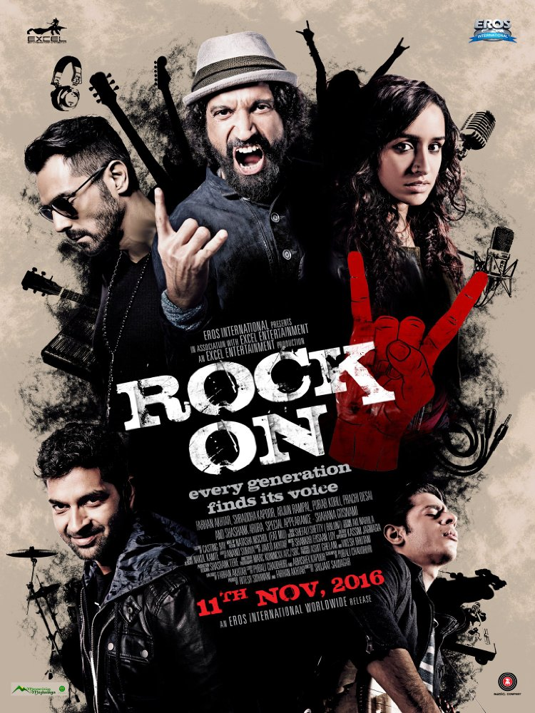 Rock On 2 2016 x264 DvDRip AC3 5.1 MSubs -DDR torrent